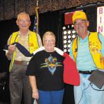 VFW Bingo Manager Elliott Bond, Kerry Schuster, and Neal Peer, Commander VFW Post 8053