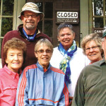 SunBird Hiking Club members (left to right) Flora Stanley, Doreen Liske, Gordon Hagg, Mary Hicks, Mary Lou Giles, Karen Snowden and Don Jones.
