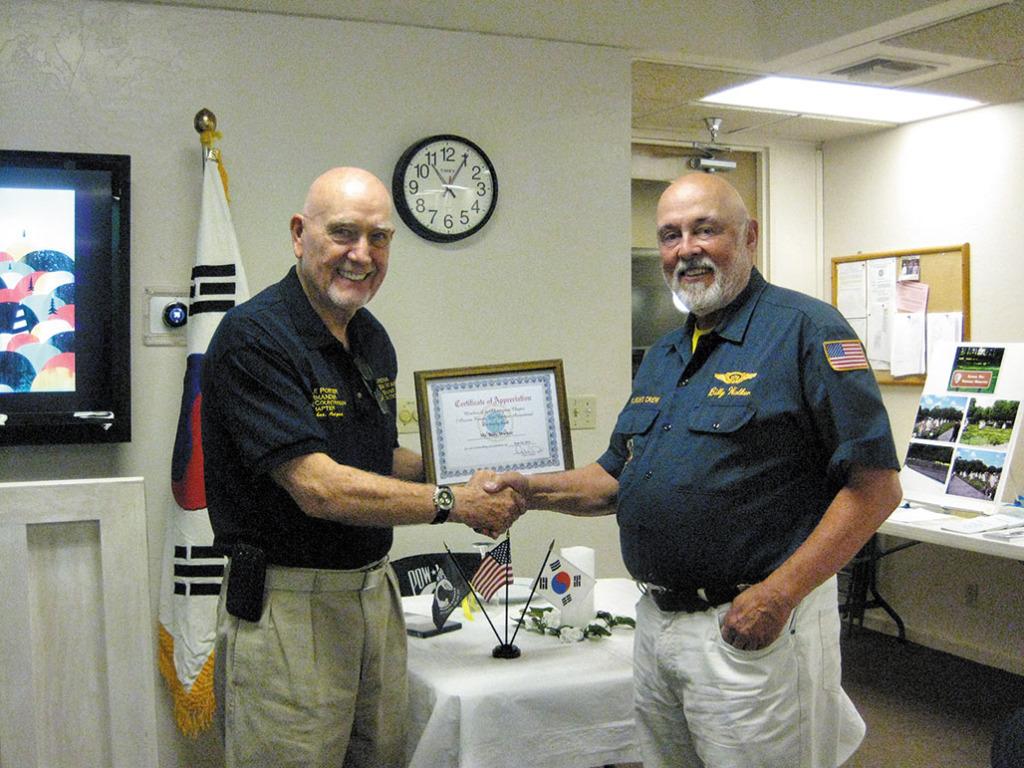 Commander Doyle Porter and June guest speaker Mr. Billy Walker