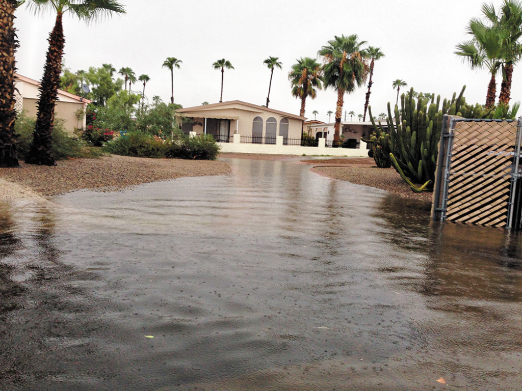 Heavy rain caused flooding in SunBird.