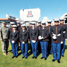 The Marine Corps' JROTC from Casa Grande at their 2014 drill completion.