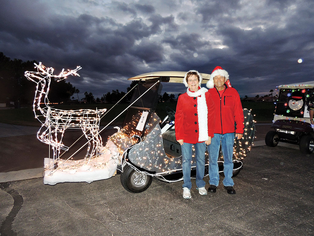 Jerry and Pat Younger's Sleigh won second prize!