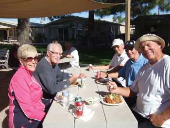 Fun was had by all at the welcome back picnic of the SunBird Tennis Club!