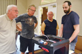 Bryan Beata, President of the Apple Users Group of Sun Lakes on the right, demonstrated 3D printing at last month's meeting.