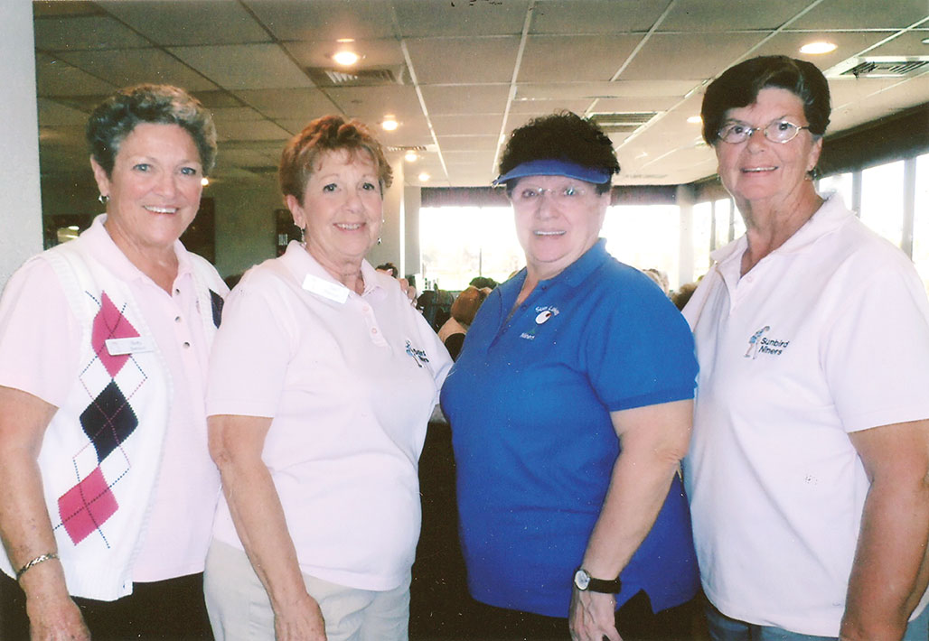 Winners of the Home and Home (pictured left to right) – front nine: Betty Benson, Teri Namon, Vera Maschowsky and Jane Sybesma