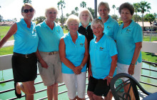 Roadrunners Tournament Committee (left to right) Tammy Bachofner, Connie Dreyer, Shirley Hunt, Dee Lee, MaryLou Trautmann, Linda DePalma and Jan Griffin