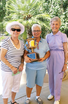 Pictured are some of the Ladies SunBird Cup participants (left to right) Jean Pritchard, Trish Carrel and B.J. Schermerhorn