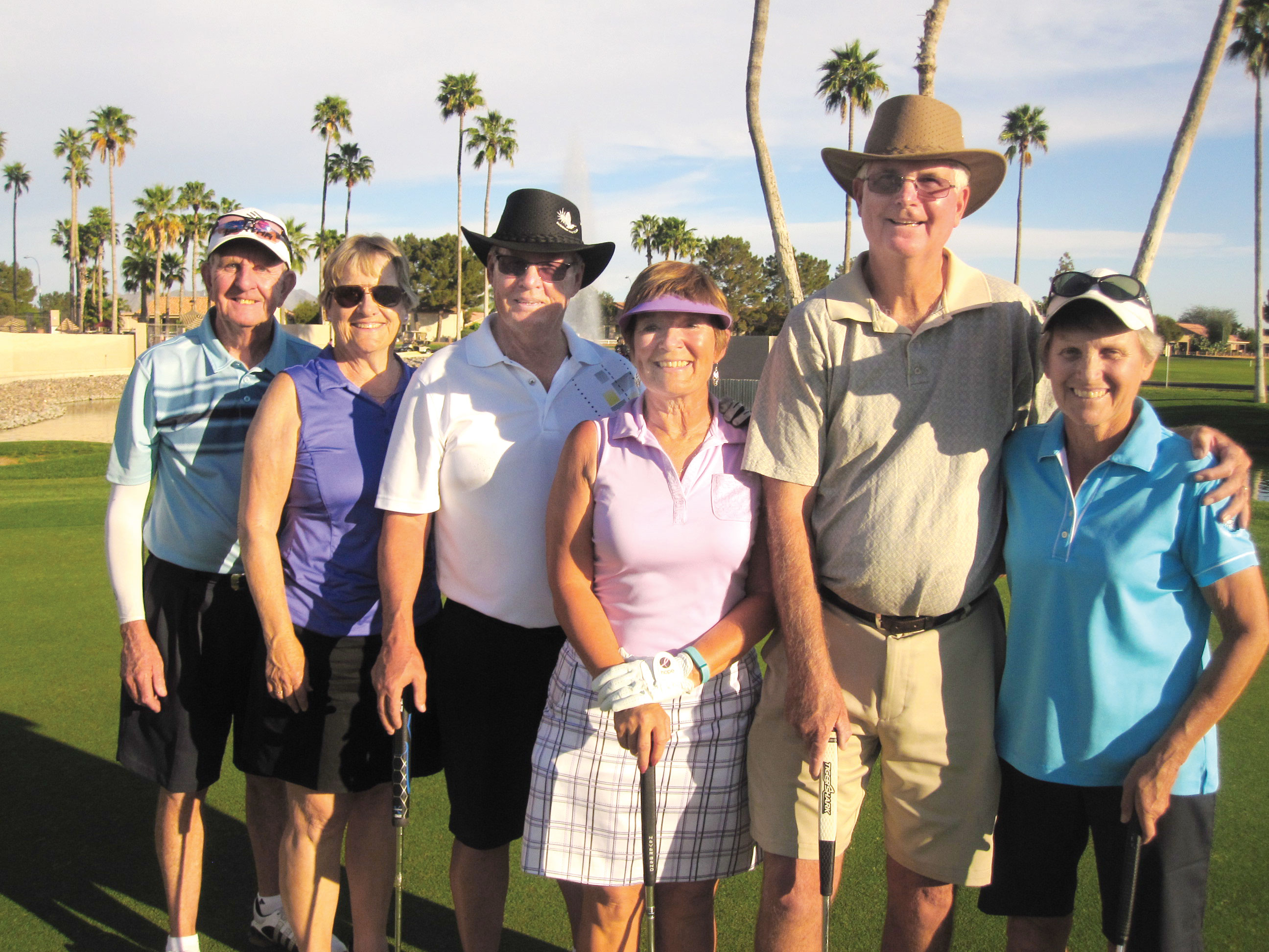Mixed Gross Shootout (right to left) Karen Gilmore and Wes Terry 1st place, Jackie Huyghebeart and John German 2nd place and Heather Verbitsky and Gerry Tomlinson 3rd place.
