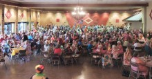 Over 300 people attended the luau!
