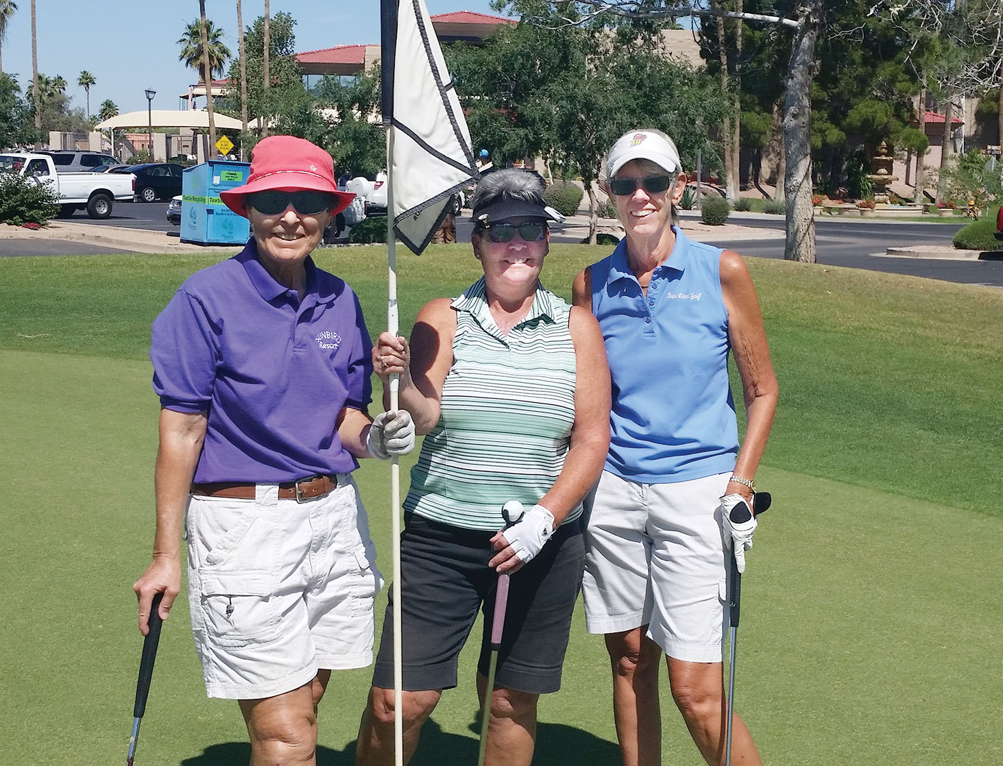 Pat Arnold, Barb Wallace and Jane Sirois
