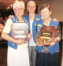 Lions Jean Boddington and Marilyn Klooster received the Melvin Jones Fellowship for their years of outstanding service to the SunBird Lions Club.