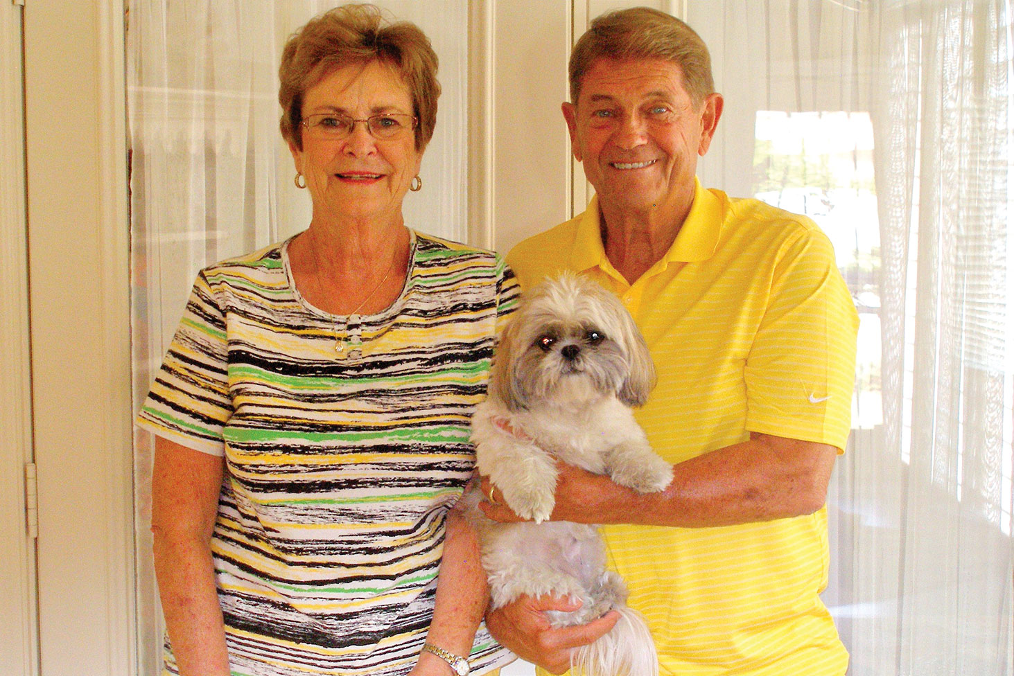 Pat and Jerry Younger with their guard dog Abby