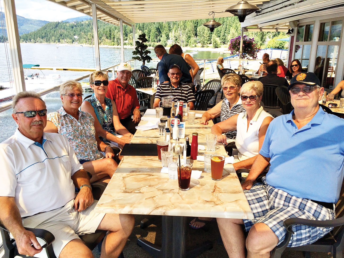 From left to right are Dale and Diane Stokke, Carolyn and Ron Jarvis, Don and Elaine Friesen and Sharon and Terry Eade.