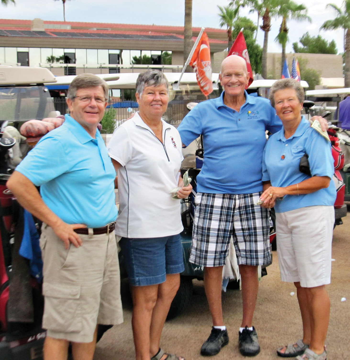 Winners of the second annual Roadrunner/Bandit Scramble from left are Gordon Lee, Connie Franklin, Jim Dolwick and Marsha Brockish.