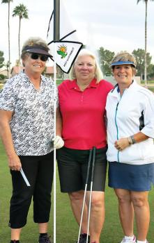 Shootout winners Joyce Gerber, Dee Lee and Jackie Huyghebaert