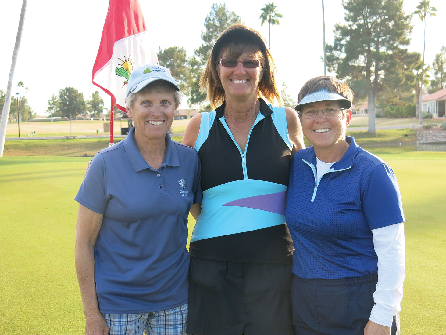 Karen Gilmore, 1st place winner; Melissa Craig, 2nd place; and Cindy Vig, 3rd place.