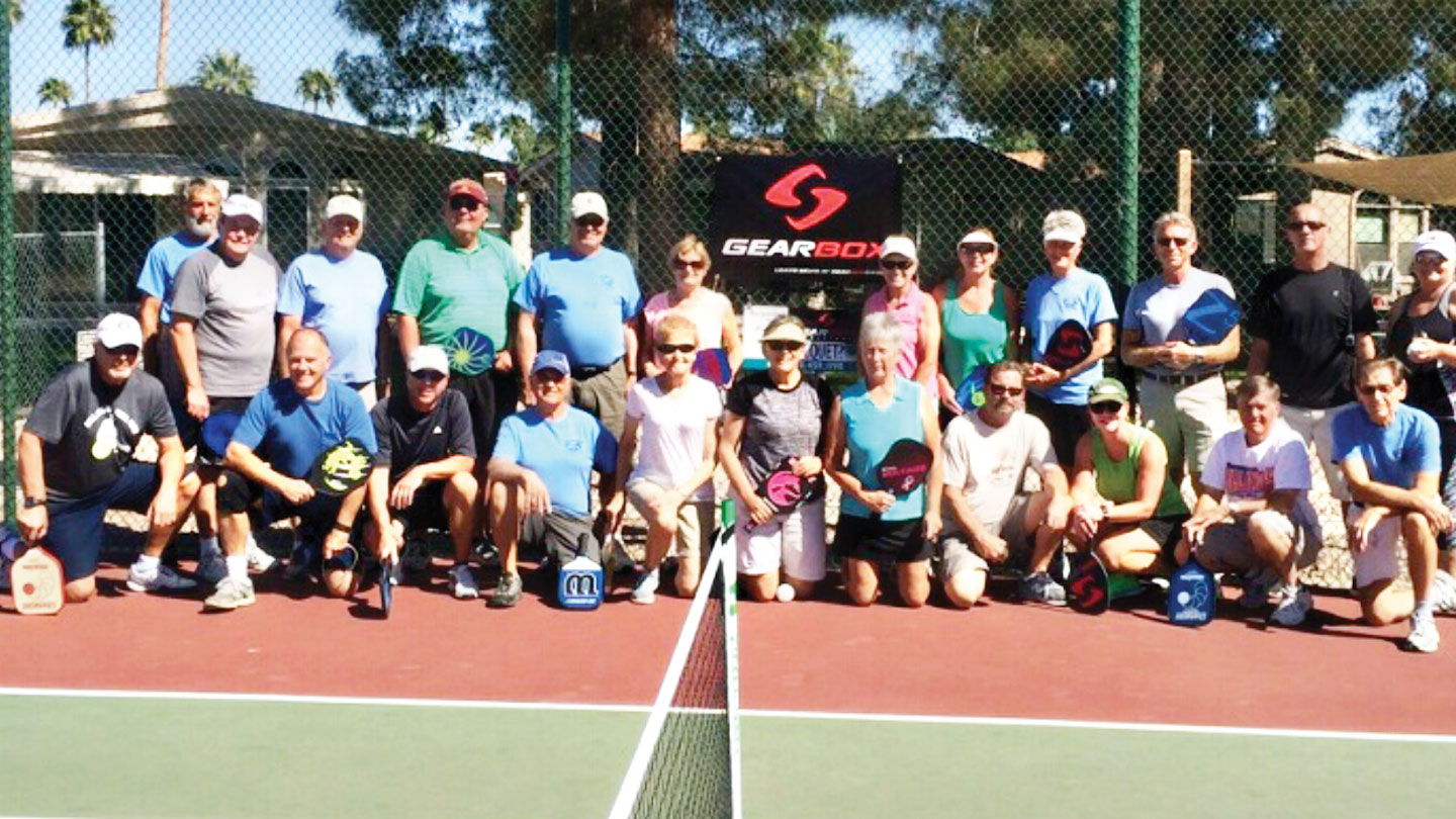 A great day for a SunBird round robin pickleball tournament!
