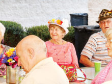 German Club members enjoyed the patio party on April 26!