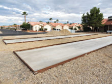 Give the new bocce ball courts a try!