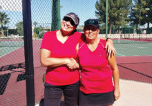The members with the most wins in the in-house tournament were Teri Bitler (left) and Charlotte Wiard (right).