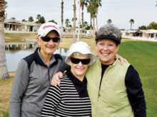 Left to right: Margie Leach, June Yates, Connie Lundeen