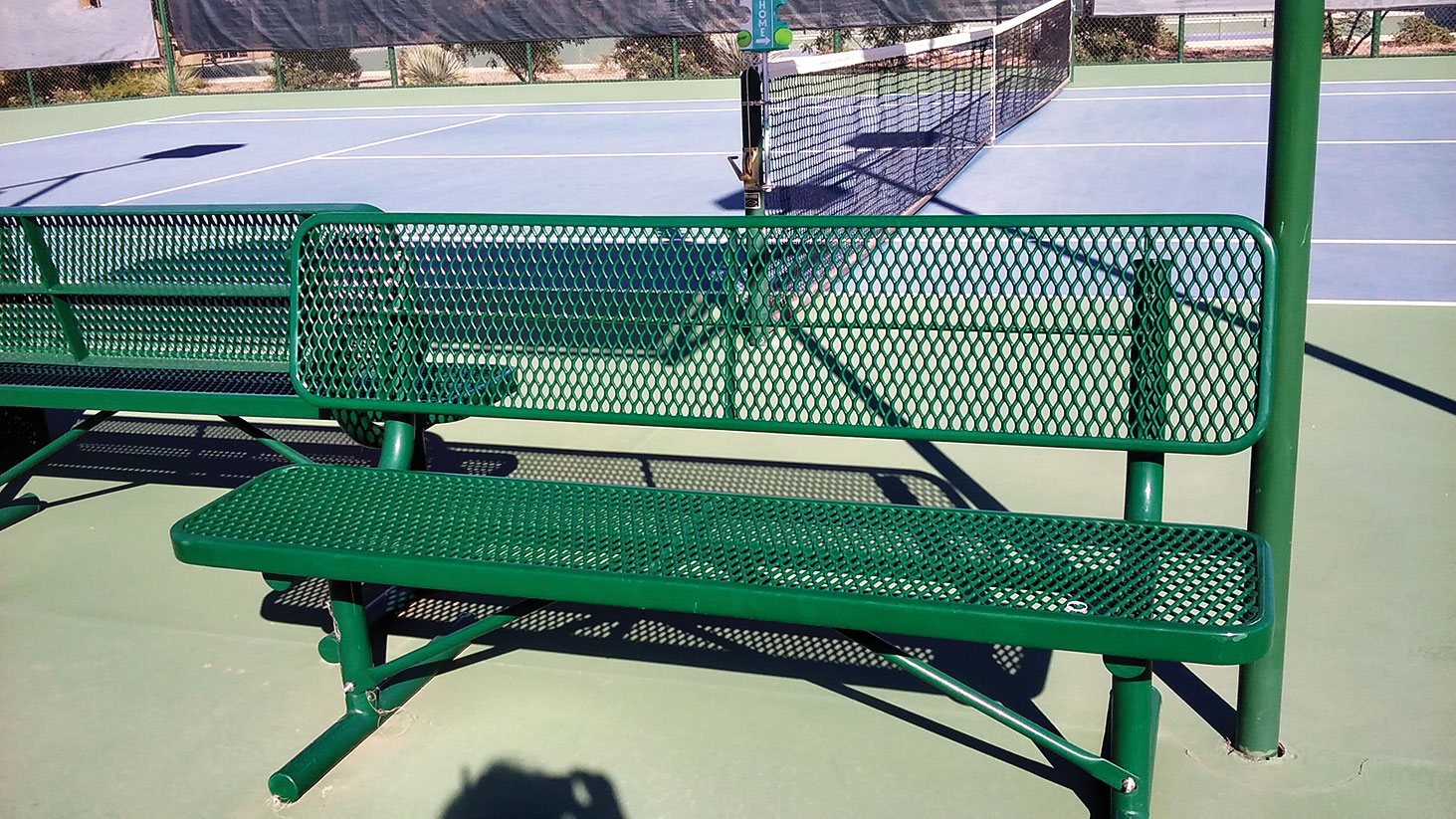 Four new benches purchased by the SunBird Tennis Club.
