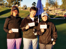Ladies Shoot-out Champions Cindy Vig, Barb Terry and Melissa Craig