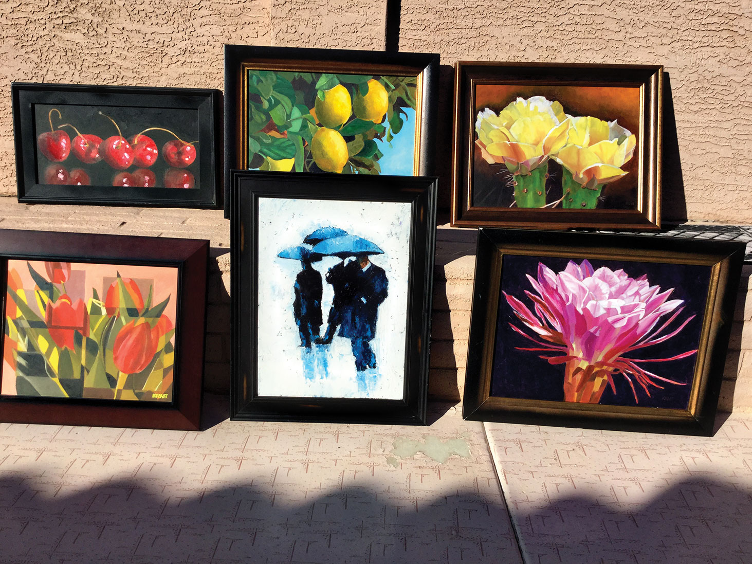 Art show showcasing work from SunBird artists