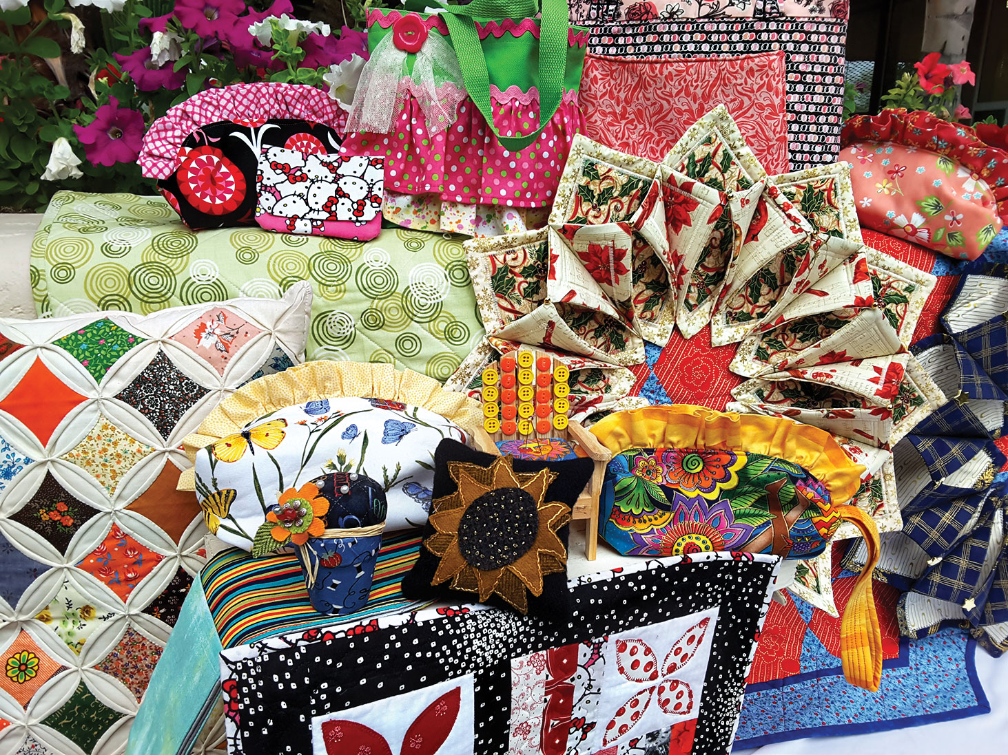 A few of the beautiful boutique table items for sale at the 8th annual Agave Quilters Guild Quilt Show Saturday, April 1, from 10:00 a.m. to 4:00 p.m. in the Sun Lakes Country Club Navajo room