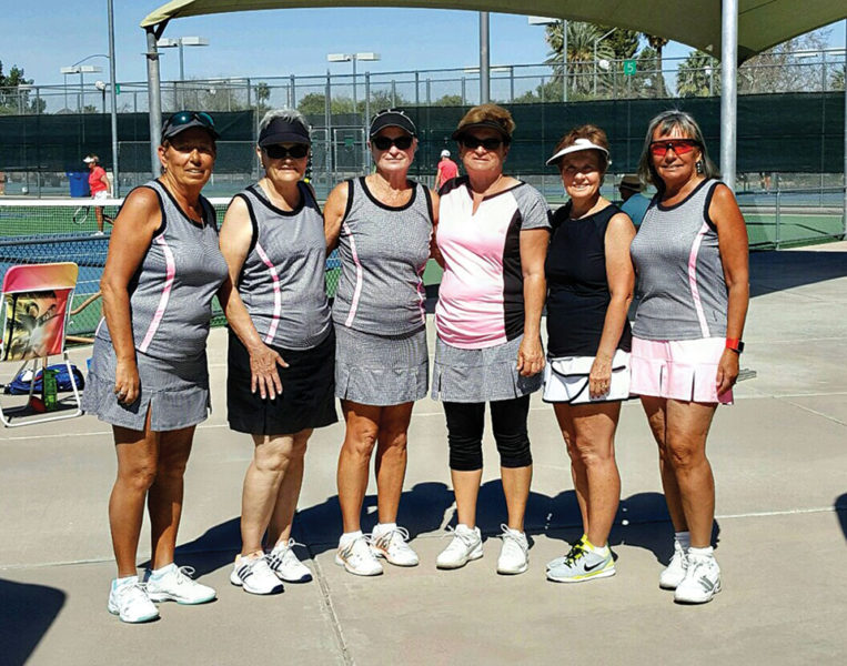 Volley Girls: (left to right) Charlotte Waird, Francis Escobedo, Jo Lucas, Marilyn Hespel, Terri Loney, Dianna Wreford. Not pictured: Vicki Ayres, Patti Meyer and Barbara Peck
