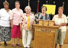 Kare Bear Board 2017-2018 Julia Roberts, Linda Bengston, Margaret Spear, Deanna Calvert and Barbara Dunbar