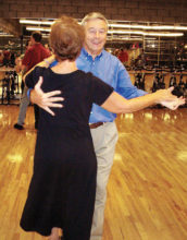 """""""Hey, this is fun,"""" Basic Social Dance students George and Denise"""