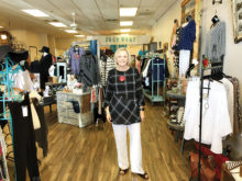 Judy Dragoo, owner of JudyWear Boutique. JudyWear offers stylish clothes and accessories for women of all sizes.