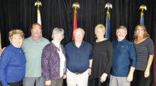 Shirley Clark, Dan Buescher, Nancy Eckstein, Bob Moren, Linda DiPalma, Gordon Lee, and Tammy Bachofner