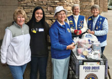 Left to right: Arlene Block, Destiny, Marilyn Klooster, Carol Zittel and Jeanne Anderson. Not pictured: Maryls Haslow, Ethel Donoghue, Bill Hespel and Gordon Olson