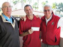 Bandit Treasurer Dan Carroll, SunBird Golf Course Superintendent Marc Francour and Bandit Tournament Chair Richard Craig