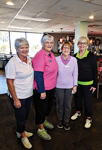 Second place team (left to right): Barbara Cyr, Donna Sullivan, Char Donaldson and Irene Zeppelin
