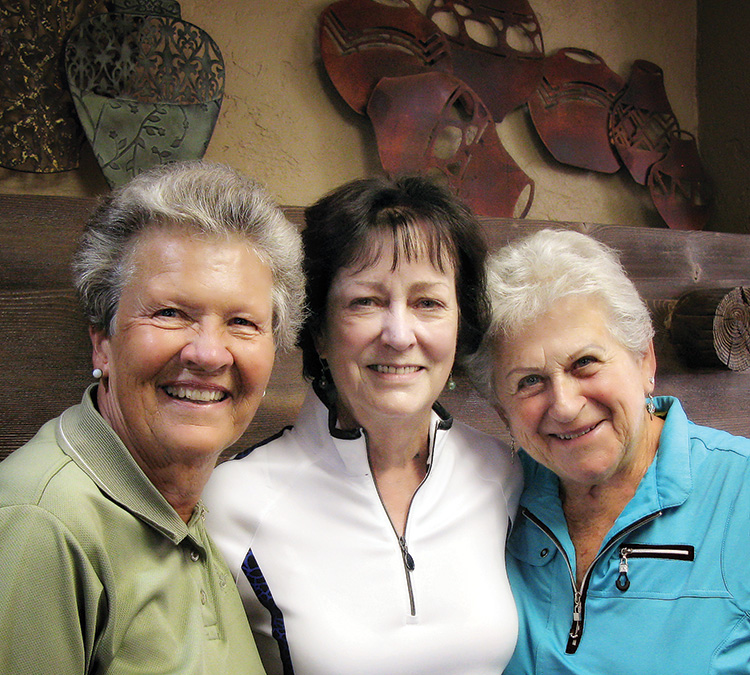 SunBird Cup Winners: Marsha Brockish, 3rd; Carol Garret, 1st; and Lora Thomas, 2nd