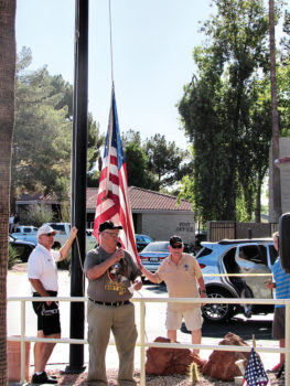 SunBird's 4th of July flag ceremony.