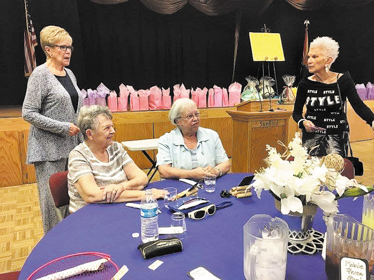 Left to right: Emily Hughes, Mary McKenzie, Margaret Speer, and Rosie VanderVeen enjoying an appreciation luncheon.