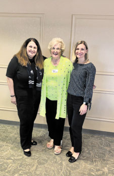 Left to right: Kris O'Reilly, officer relationship banker; Rose Pachura, Founder Chit and Chat Group; Ann Paszek, branch manager, Queen Creek and Alma School. Not shown: Julie Enriquez, branch manager for Chandler Heights and Arizona Branch and branch manager for Chase at Pecos and Arizona Ave.