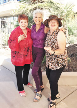 Left to right: Mimi Fishkel, Rosie Vanderveen, and Lynn McHale
