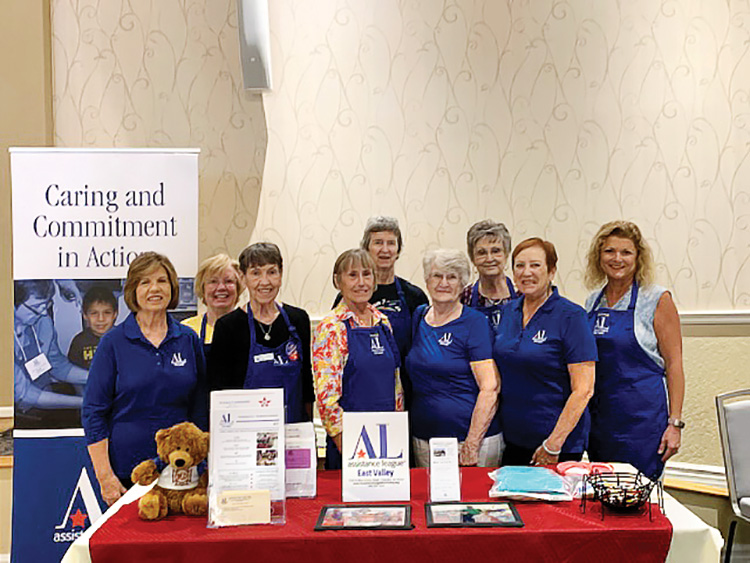 Donna Hines, Kay Glantz, Barbara Dubler, Linda Metz, Ginny Metz, Phyllis Hesselrode, Lois Eitel, April Joy, and Carol McCorkle
