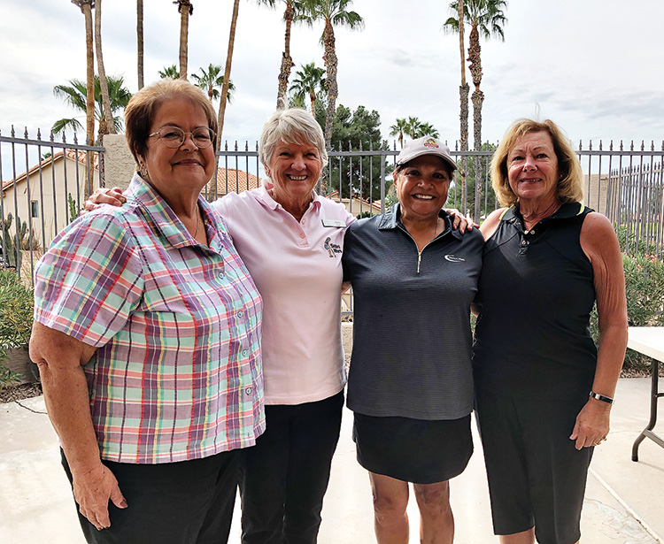 Honored women from the front and back nine holes. Do you recognize these golf-loving women?