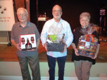 Door prize winners (left to right): Gerry Vogelsang, Bruce Baker, Bety Dar
