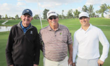 Gross Score Shoot Out (left to right): Gerry Tomlinson, 3rd; Gary Hodges, 1st; Andrew Hodges, 2nd