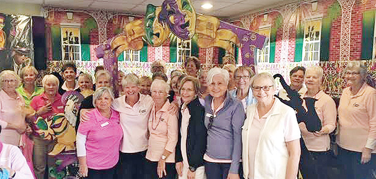 In the month of February, the SunBird Ladies Niners visited the Sun Lakes Niners. Pictured are some of the ladies who enjoyed a day playing with the ladies down the road.