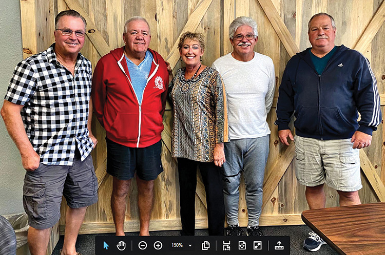Water Volleyball Club Board (left to right): Dale Ludwig, vice president; Doug Dieroff, vice president; Deborah Cassidy, secretary; Tim Aschleman, treasurer; and Dirk Close, president