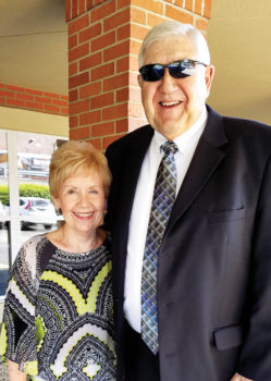 Pat Miller, the third director of the SunBird Singers and Ringers, with her husband Hank Miller following a SunBird Community Church service. She leads the choir, and Hank rotates as a speaker at services with four other ministers.