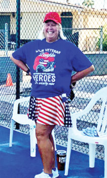 Kim Villela, winner of the pickleball Memorial Day contest